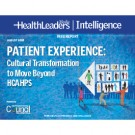 Patient Experience: Cultural Transformation to Move Beyond HCAHPS